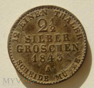 2½ Silber Groschen 1843 A ,Fryderyk Wilhelm IV