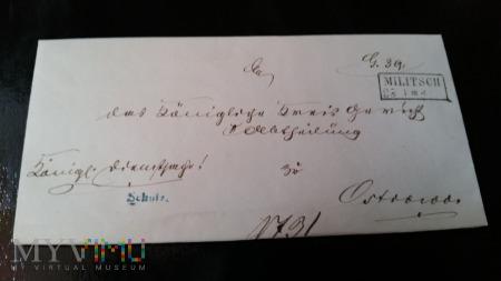 PISMO SADOWE 1862 MILITSCH-OSTROWO