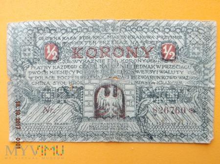 1/2 Korony Miasta Kraków 1919r.