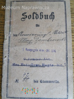 Soldbuch polaka Dombrowskiego vel Dąbrowskiego