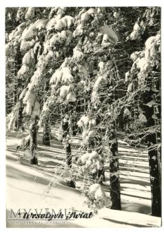 Duże zdjęcie Życzenia Świąteczne 1968 Święta PRL Zima