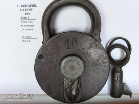 "F. Sengpiel Patent Padlock #10- Size ""C"""