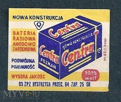 Centra Bateria Radiowo Anodowo Żarzeniowa.18.1963.