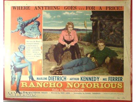 Marlene Dietrich RANCHO NOTORIOUS mini plakat 1952
