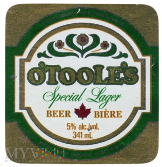 o'Toole's Special Lager Beer
