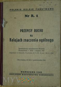 1948 - Przepisy ruchu na kolejach znaczenia ogól.