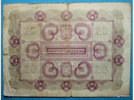 20 KORON 1922