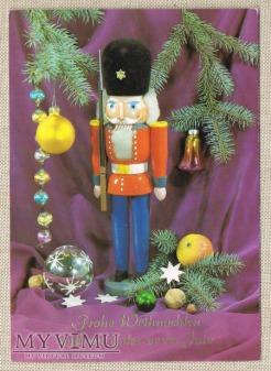 Wesołych Świąt niemiecka kartka świąteczna