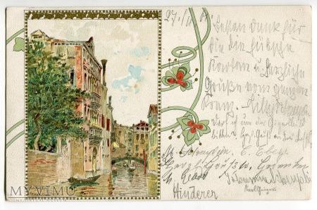 1901 Wenecja A.E Fiecchi Venezia Raffaele Tafuri