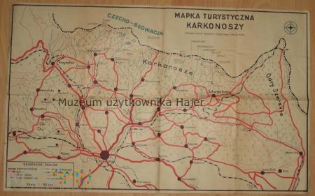 Mapa Turystyczna Karkonoszy