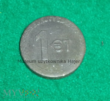 Duże zdjęcie 1 Euro Tysiak Europa Wybiera Tyskie - żeton