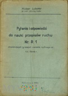 1948 - Pytania i odp. do nauki Przepisów ruchu