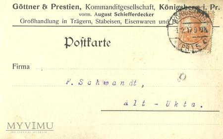 Gottner & Prestien Konigsberg 1917 r.