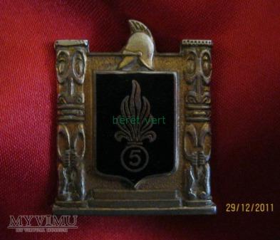 odznaka 5RE (5ème Régiment étranger) - I