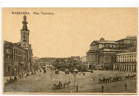 W-wa - Plac Teatralny - Teatr Wielki - 1908