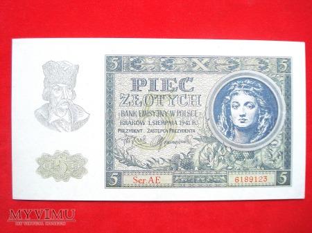 5 złotych 1941 rok