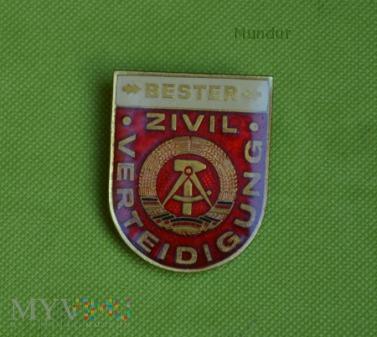 Odznaka ZIVIL VERTEIDIGUNG - BESTER