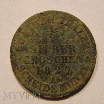 ½ SILBER GROSCHEN 1827 A
