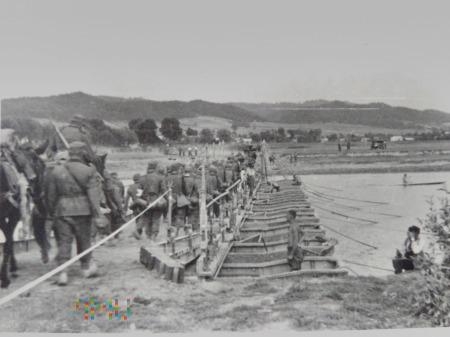 niemiecki most pontonowy 1939