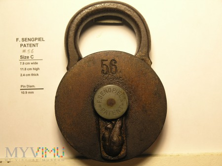 "F. Sengpiel Patent Padlock, #56- Size ""C"""