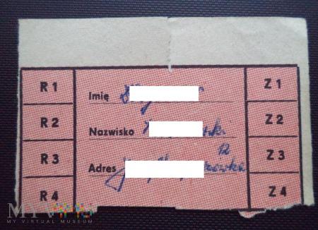 Kartka żywnościowa PRL
