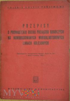 1953 - Przepisy o prow. ruchu pociągów roboczych