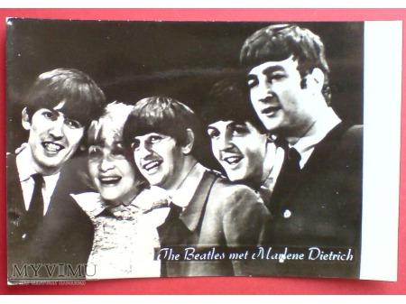 Marlene Dietrich i zespół The Beatles 1963 Londyn