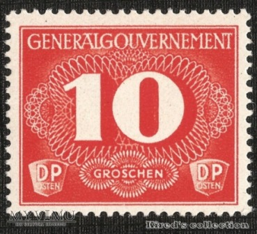 Postgebührenmarke 10 groszy