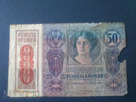 Pięćdziesiąt koron Austro-Węgry 1914r
