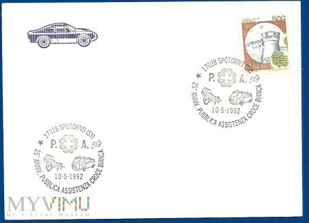 Włochy-Specjalna pieczęć.10.5.1992