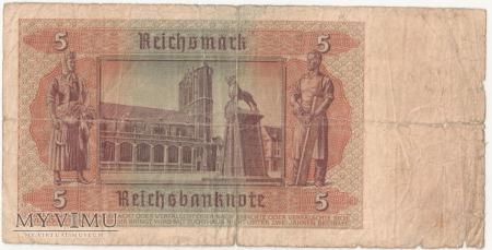 5 Reichsmark 1942 rok