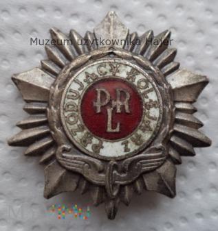 Przodujący Kolejarz odznaka srebrna wz 1969