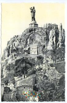 Puy - Statue de Notre-Dame - lata 50-te XX w.