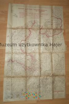 Mapa Zachodnie Granice Polski 1919 rok