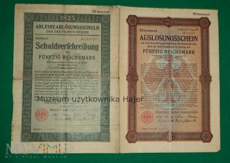 Auslosungsschein + Schuldverschreibung 1925 rok
