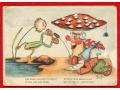 Zobacz kolekcję Fantasy, Legendy, Baśnie, Mity i ich bohaterowie Dwarf postcards gnomes, lutins, fairy tale postcards, frog, Frosch ....