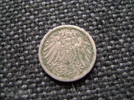 5 pfennigów 1901