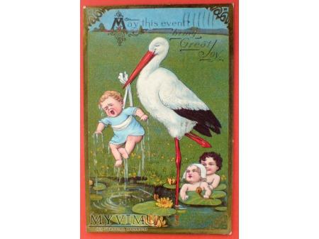 1909 Bocian i Dzieci, maluchy, nasi milusińscy ;)