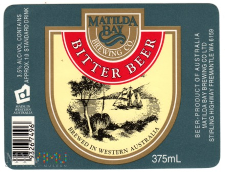 MATILDA BAY BITTER BEER