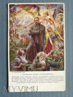 """Pocztówka """"Apoteoza Józefa Piłsudskiego"""""""