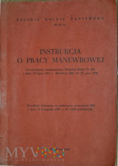 Duże zdjęcie 1968 - Nr R 34 Instrukcja o pracy manewrowej