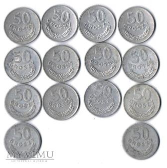 50 groszy od 1949 do 1986 roku.