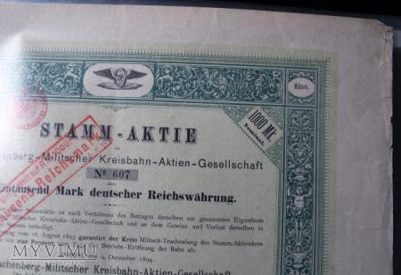 akcje kolei waskotorowej 1894 r