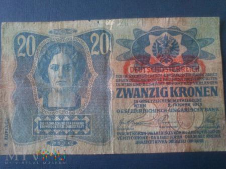 Dwadzieścia koron Austro-Węgry 1913 r