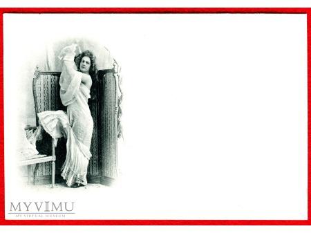 c. 1905 dama alkowa parawan bielizna 100 lat temu