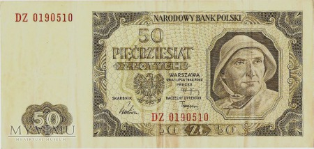 Duże zdjęcie 50 złotych, 1948 rok.