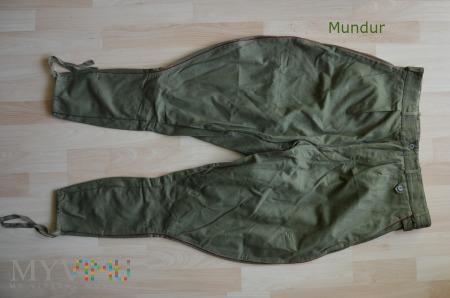 Oficerskie spodnie drelichowe letniego m. polowego