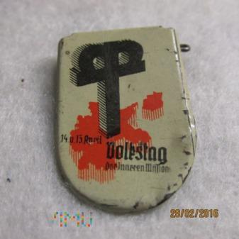 Odznaka zbiórki dobroczynnej koscioła ewangelickie
