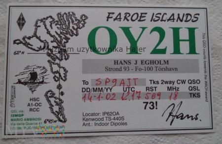 Wyspy Owcze Karta QSL