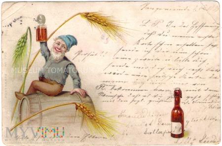 Duże zdjęcie Przy piwku - 1899
